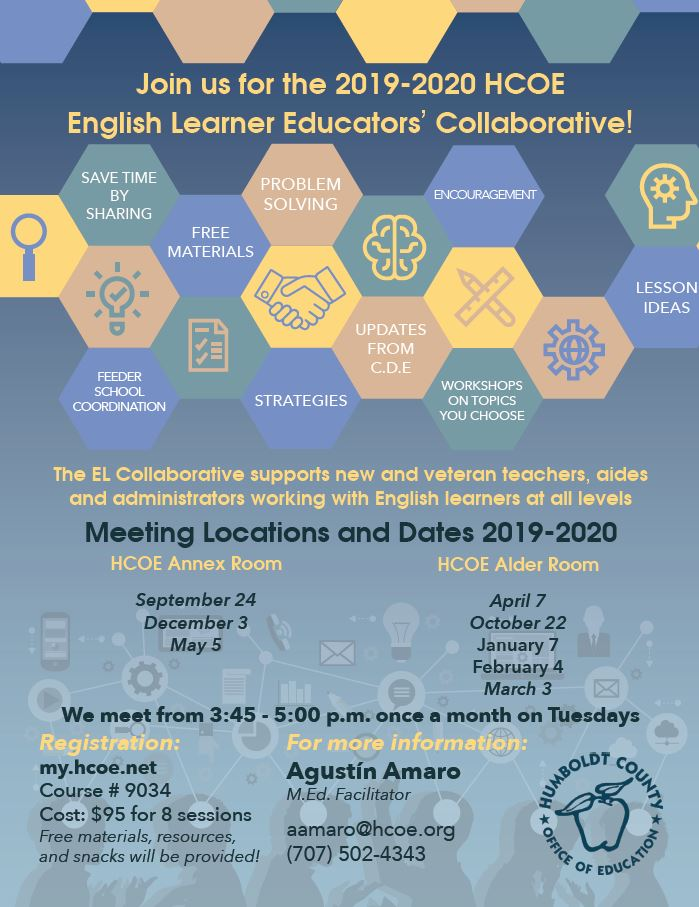 The EL Collaborative supports new and veteran teachers, aides and administrators working with English learners at all levels