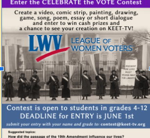 Celebrate the VOTE contest for 4th-12th Grade